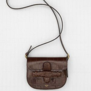 Celine authentic crocodile symmetrical mini bag